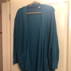 Teal blue cardigan
